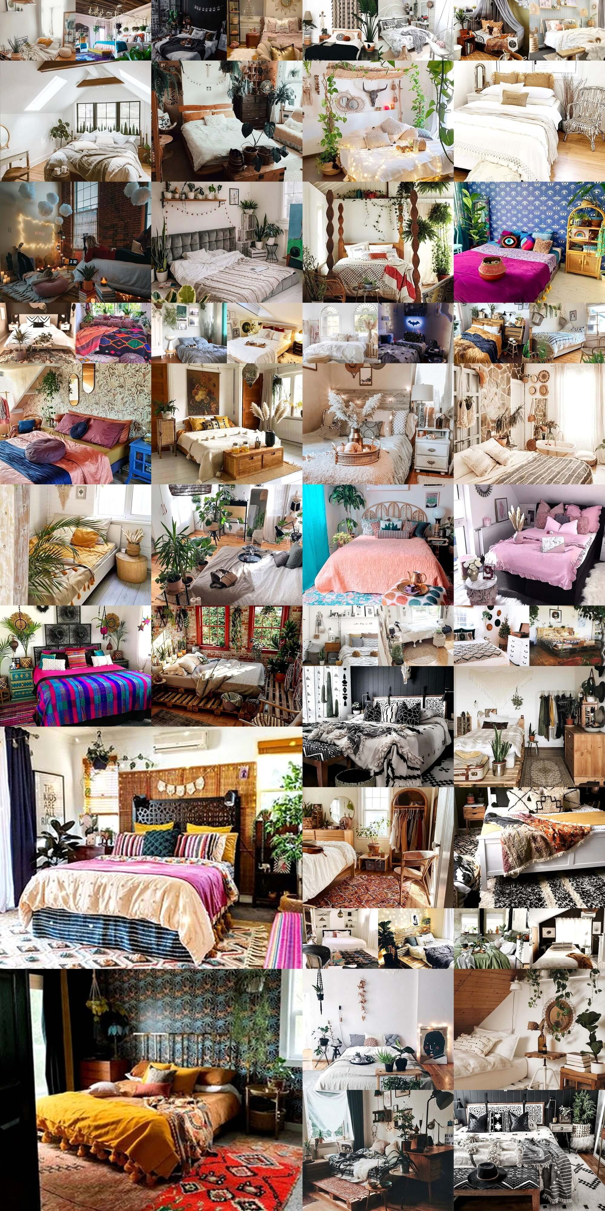 Boho Bedroom Plans With Pallet Beds Bohemain Boho